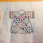 Primer kimono bordado