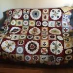 Mi versión del quilt Antique Sampler de Sue Daley