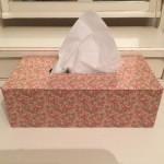 Caja de pañuelos de cartonaje
