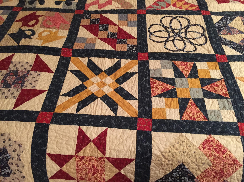 Sampler quilt, mi primera colcha de patchwork LA VIDA EN