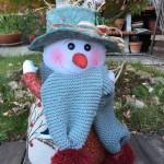 Navidad en patchwork: muñeco de nieve