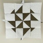 Quilt Dear Jane, bloque A-1