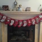 Patchwork Navidad, botas rojas