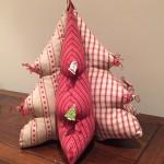 Patchwork en Navidad, árbol telas country