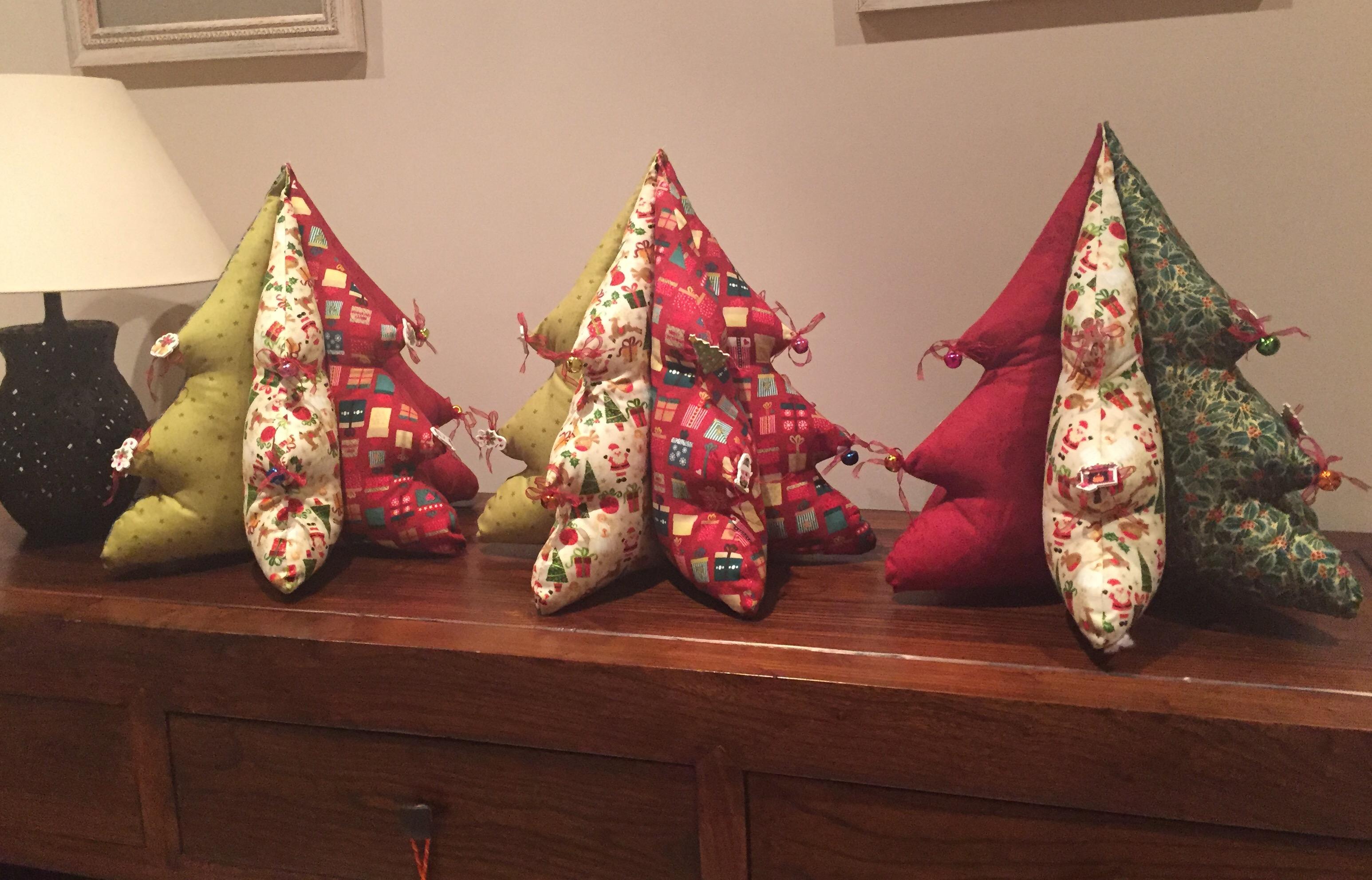 rbol de navidad en patchwork - Arbol De Navidad De Tela