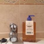 Jabón para cuidar las manos de una quilter