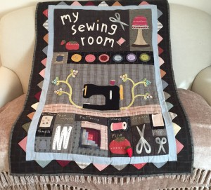 quilt my sewing room heart to hand
