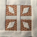 Bloque patchwork B-5 quilt Dear Jane