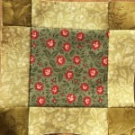 Bloque patchwork B-13 quilt Dear Jane