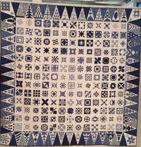 quilt Dear JAne azul