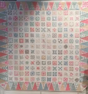 quilt Dear Jane tonos pastel