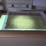 Caja de luz para trabajos de patchwork