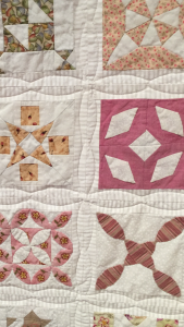 acolchado a máquina de coser quilt Dear Jane