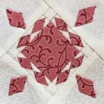 Quilt Dear Jane bloque C-7 patchwork