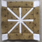 Quilt Dear Jane bloque D-1 patchwork