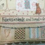 Cojín de patchwork Quilt Shoppe
