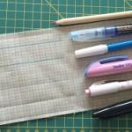 Lápices y rotuladores para tela