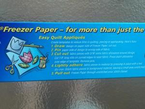 freezer paper aplicaciones