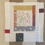 The Story Of My Day quilt bordado y patchwork