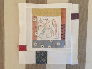 Anni downs Quilt patchwork bordado
