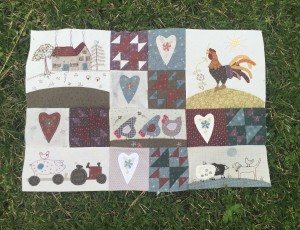 patchwork granja colcha quilt