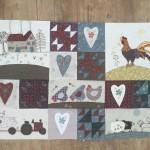Quilt patchwork Anderson´s Farm 1-5