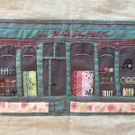 Cuadro tienda patchwork y bordado