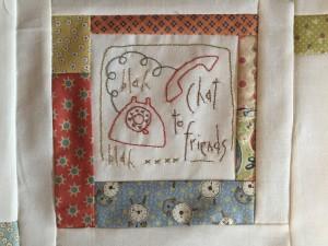 bordar en tela a mano patchwork
