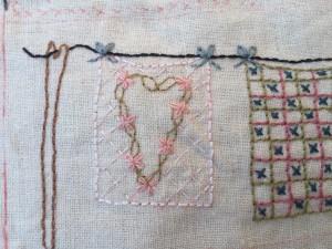 quilt bordado cojín patchwork