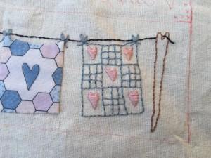 cojín patchwork Lynette Anderson
