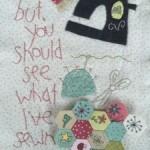Mini quilt The Happy Stitcher bloque 4 The Birdhouse