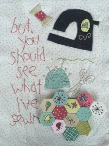 mini quilt Natalie Bird