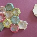 Patchwork El jardín de la abuela hexágonos reutilizables