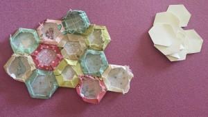 hexágonos técnica patchwork el jardín de la abuela