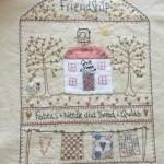 Cojín bordado Quilt Shoppe de Lynette Anderson