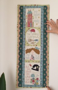 mini quilt de pared The Happy Stitcher