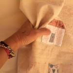 bordado cojín Lynette Anderson Quilt Shoppe