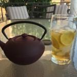 Patchwork o bordado con té