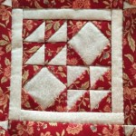 Quilt Dear Jane bloque D-10 log cabin
