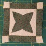 Quilt Dear Jane E-2 bloque patchwork