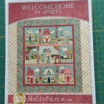 BOM Welcome Home quilt casas patchwork