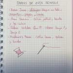 Planning de una quilter, la agenda