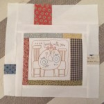 Quilt The Story of my Day bloque 13 log cabin