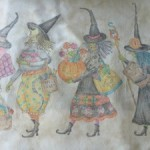 Quilt Mystery Salem Witches pintura tela
