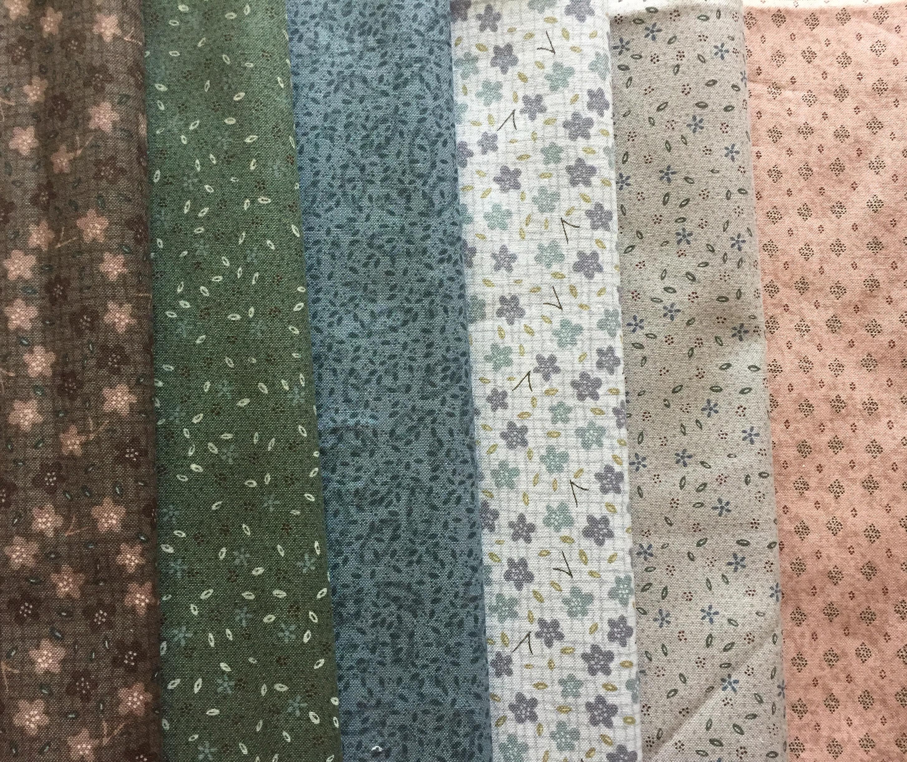Telas patchwork Lynette Anderson Stonehouse Garden