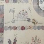 Quilt patchwork HExágonos