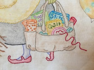 bordado a mano quilt patchwork