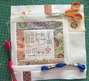 bloque bordado patchwork costura