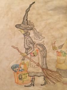 bruja pintada y bordada Crabapplehill