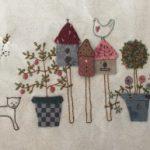 Quilt Chateau Hexagon patchwork y bordado
